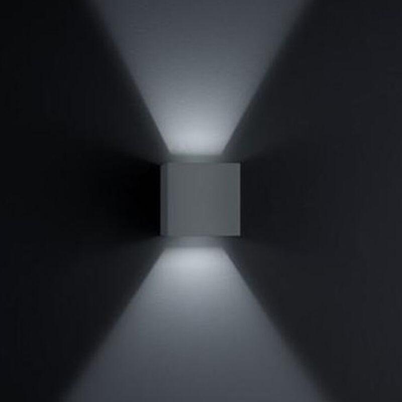 LED Wandleuchte Siri 44 in schwarz-matt 2x 3W 520lm IP54 Lichtaustritt verstellbar