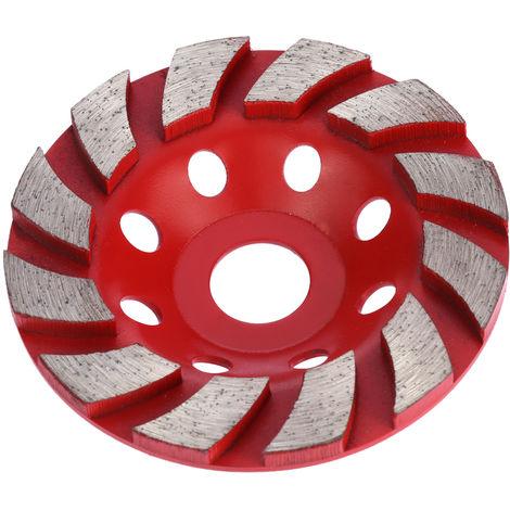 Helical grinding wheel, thickened diamond grinding wheel, aperture 20mm