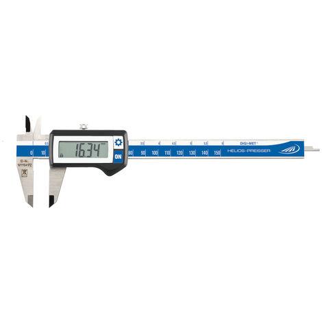 Helios-Preisser Digital-Taschenmessschieber 150 mm mit Datenausgang HP