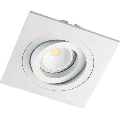 Helium - Kit de foco empotrable cuadrado, color blanco