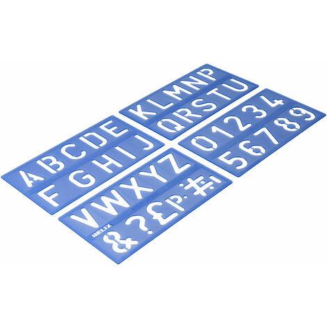 Helix H95010 Lettering Stencil Set 50mm