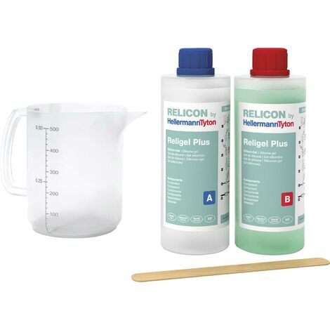 HellermannTyton 435-00756 Religel Plus 500ml-SIG-GN 2-Komponenten-Gel Inhalt: 1 Set X055321