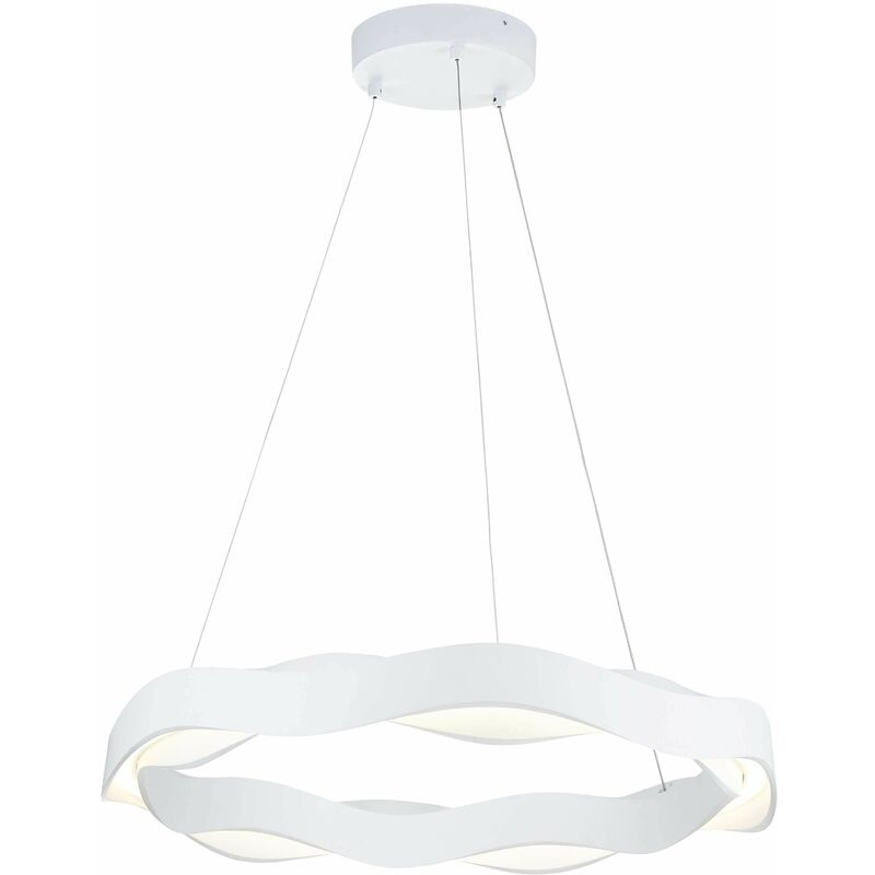 Image of Hello pendant lamp, Polyurethane and PPMA, matt white