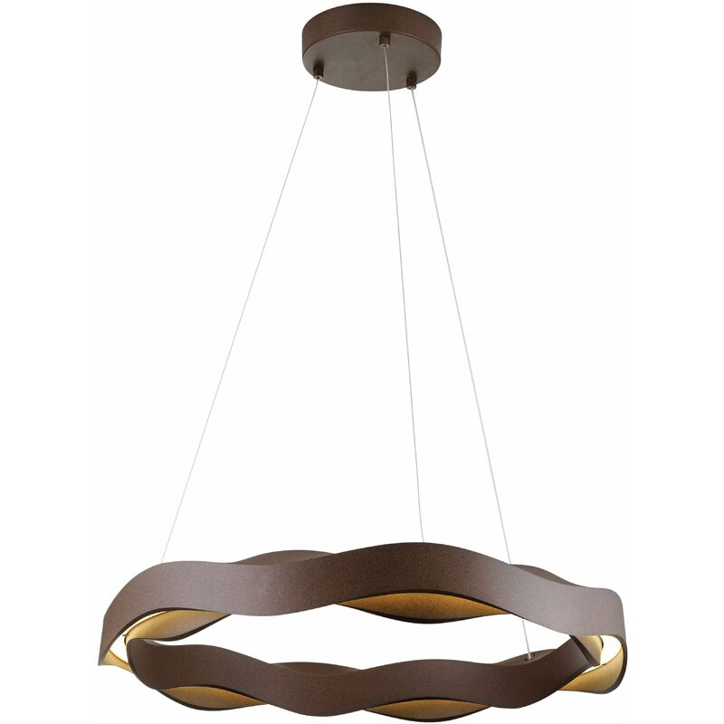 Image of Hello pendant light, Polyurethane and PPMA, brown
