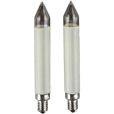 Hellum LED-Schaftkerzen 12-16V ww 2er E10 902044 Bli.2
