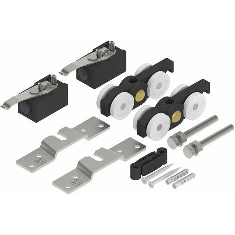 Helm 140 Schiebetürbeschlag | ohne Laufschiene, für Holzschiebetüren | Tragkraft 140kg