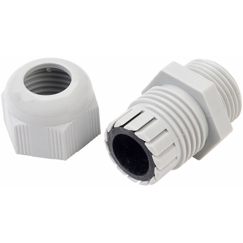 Image of 10093927 M32 Grey Dome Cable Gland - Helukabel
