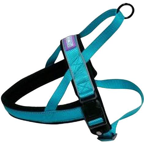 Hemm & Boo Padded Norwegian Style Dog Harness (20-24in) (Aqua)