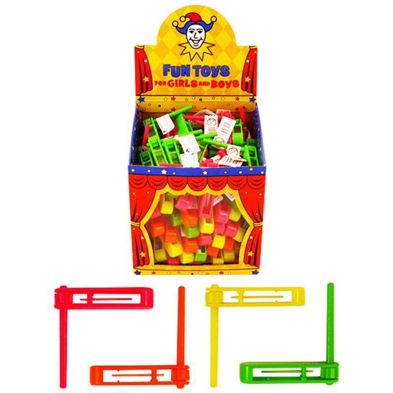 Image of Mini Plastic Toy Rattles (Box of 108) (Multicoloured) - Henbrandt