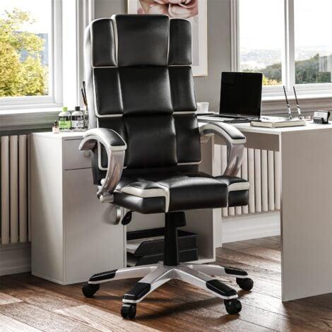 "main image of ""Henderson Office Chair, Black & White"""