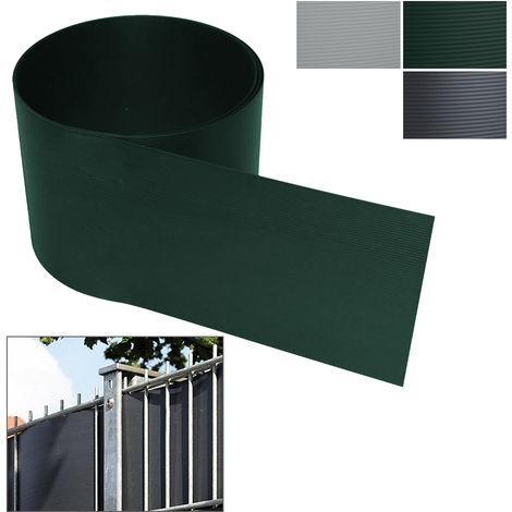 Anthrazit 10Stück Grob Sichtschutzstreifen Zaun Doppelstabmatten Stabmattenzaun