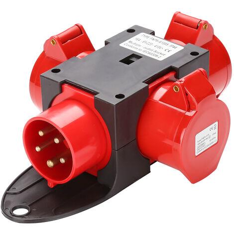 Stromverteiler Adapter CEE Baustromverteiler Kraftstrom Verteiler Schutzschalter