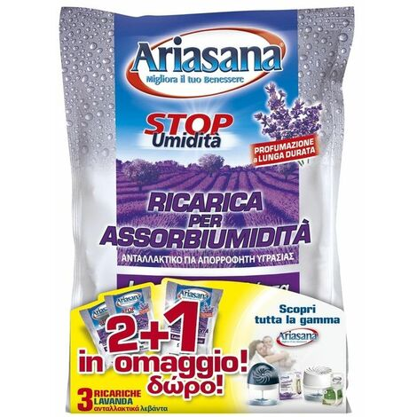 Henkel Ricarica Sale Assorbiumidita'Confezione 3 Buste da 450gr Lavanda Ariasana
