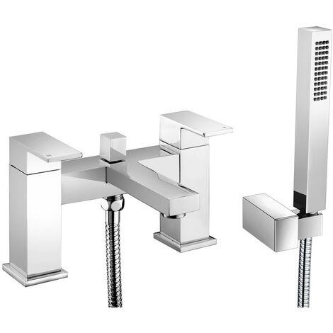 Henley Chrome Deck Mounted Bath Shower Mixer & Shower Kit