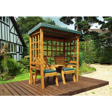 Henley Twin Seat Arbour Green - Fully Assembled