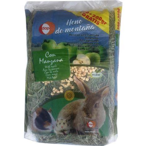 Heno de montaña DAPAC con MANZANA para roedores - 500 + 200 gr