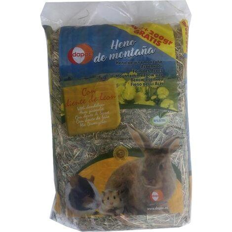 Heno de montaña DAPAC con DIENTE DE LEÓN para roedores - 500 + 200 gr