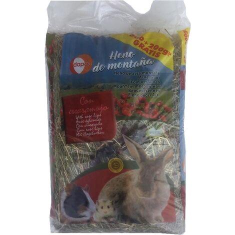 Heno de montaña DAPAC con ESCARAMUJO para roedores - 500 + 200 gr.