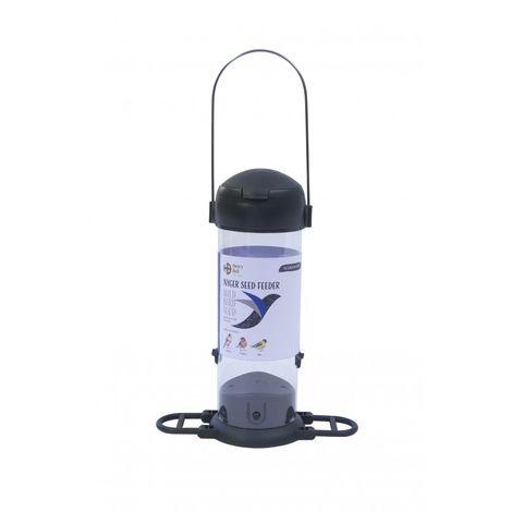 Henry Bell Essentials Range Wild Bird Nyger Seed Feeder (One Size) (Grey)