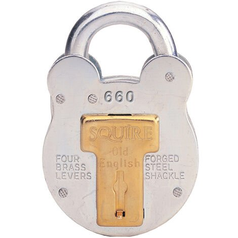 Henry Squire HSQ660 660 Old English Padlock with Steel Case 64mm