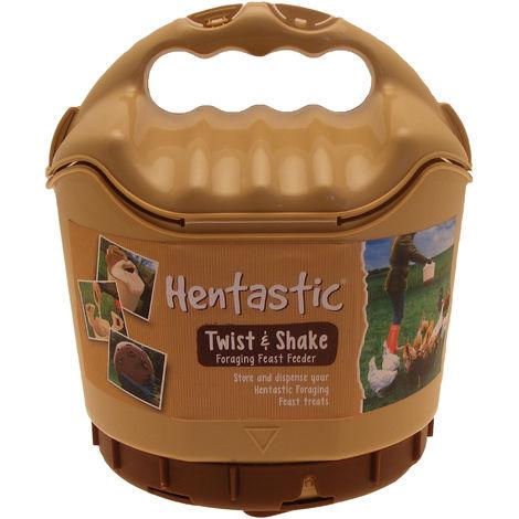Hentastic Plastic Twist & Shake Foraging Chicken Pellet Feeder (One Size) (Brown)