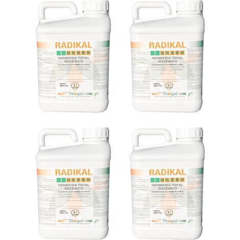 Herbicida 4 x 5L Todos los jardines concentrados