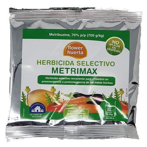 Herbicida Selectivo Metrimax Anti Maleza y Malas Hierbas para Cultivos y Huerta, Autorizado Jardinería Exterior Doméstica, Dosis Mochila 15 L - 30 gr