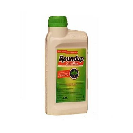 Herbicida total ROUNDUP ULTRA PLUS 500ml sin efecto residual