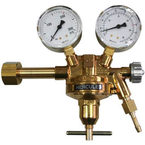 HERCULES Druckminderer Argon/Co2 Druckregler MIG MAG WIG Schutzgas Schweißen - Gas-Druckminderer einstufig 200 bar 0-30 L/min
