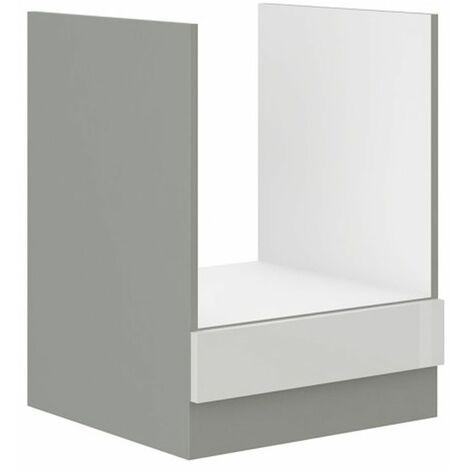 Herd Unterschrank 60 Bianca Weiß Hochglanz + Grau Küchenzeile Küchenblock Vario