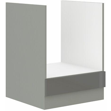 Herd Unterschrank 60 cm Grey Hochglanz Grau Küchenzeile Küchenblock Küche Vario