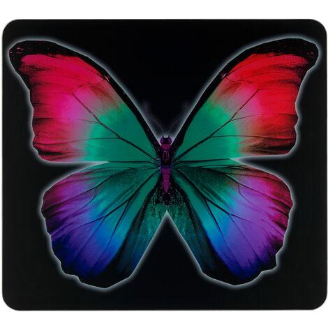 Herdabdeckung Abdeckplatte Herd Schneidebrett Abdeckung Ceranfeld Glas Butterfly