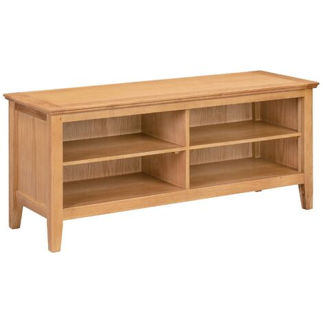 """main image of """"Hereford Oak Large Hallway Shoe Storage Bench in Light Oak Finish 8 Pairs   Solid Wooden Organiser / Cabinet / Stand /Cupboard"""""""