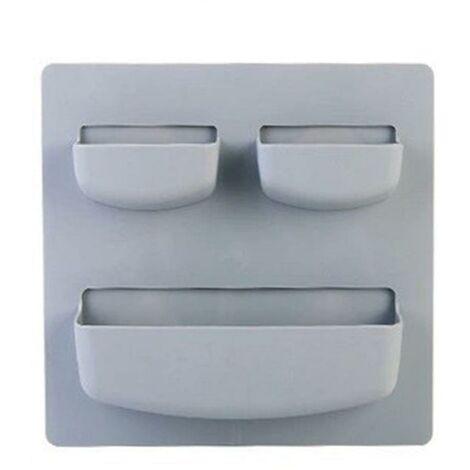 Hergestellt aus selbstklebendem Kunststoff Wandregal Bad Küche Kühlschrank Lagerung Rack Veranstalter Rack