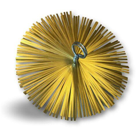 Hérisson rond en acier plat pour ramonage conduits non gainés   Embout acier fileté M12*1,75mm - Ø 250 mm - Hérisson acier