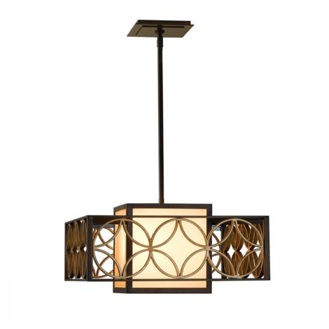 Heritage Bronze/Parissiene Gold Remy Pendant Light - 1 x 100W E27 by Happy Homewares