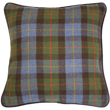 Heritage Large Cushion,Polyester & Acrylic Mix,Green Check