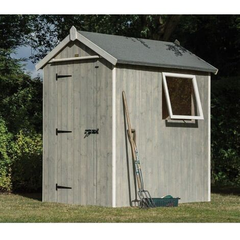 Heritage Painted Shed 6x4 Grey