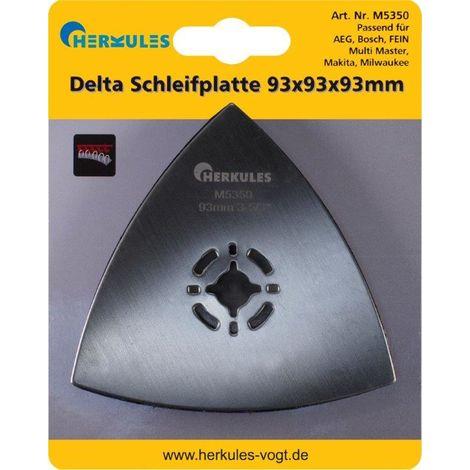 Herkules M5350 Delta Schleifplatte Klettbelag,Multischleifer 93x93x93mm