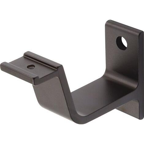 HERMETA 3551-18E Handlaufträger 3551 Aluminium schwarz eloxiert gerade Auflage