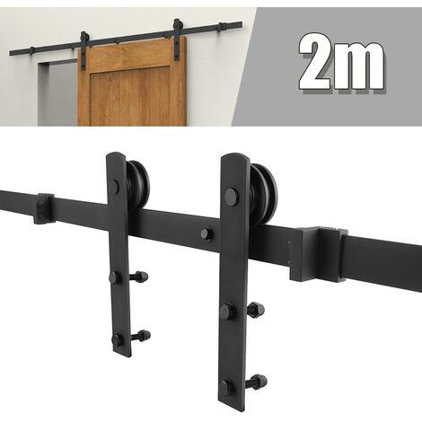 Herraje para puerta corredera Puerta colgante 200cm para granero Puerta simple