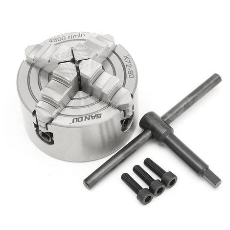 Herramienta CNC de acero endurecido reversible de mandril de torno autocentrante de 4 mordazas de 125 mm