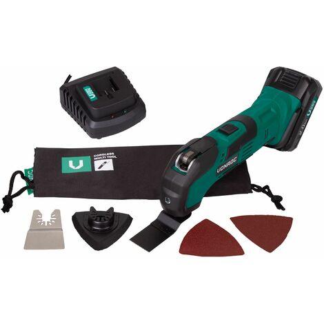 Herramienta multifunción inalámbrica VONROC VPower 20V (sin batería) – Incl. accesorios y una bolsa para guardar la herramienta