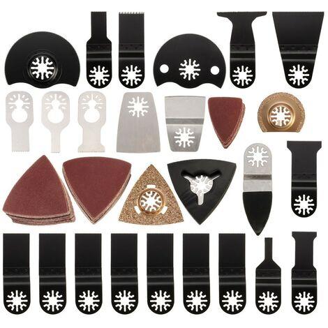 Herramienta oscilante multifunción de carpintería de hoja de sierra de 100 piezas para Dremel Fein Bosch Mohoo