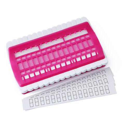 Herramientas de costura 30 Posiciones porta hilos Punto de Cruz agujas de coser Herramientas Set Organizador, rojo de Rose