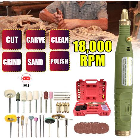 Herramientas eléctricas de 18 V Mini taladro eléctrico Trituradora rotativa Pulidora de taladro DIY Mini taladro eléctrico Amoladora Grabadora Kit de herramientas rotativas Traje de molienda eléctrica