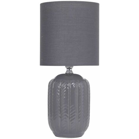 """main image of """"30cmTable Lamp Bedside LightsGrey Herringbone with Shades"""""""