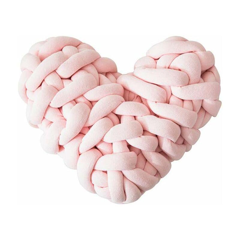 Herz 28 * 27cm Knot Kopfkissen Kissen Nordische Einfachheit Kreativität Baumwolle Geknotetes Kissen Baby Bett Zimmer Dekor Spielzeug Knotenkissen