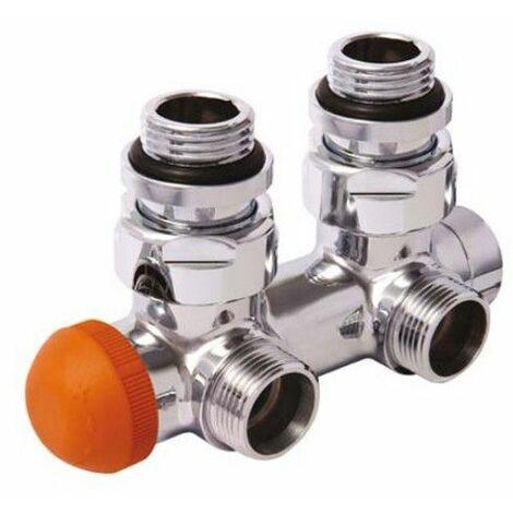 HERZ TS-H3000 - Thermostatventil 50mm Eckventil Zweirohrsystem Lanzenventil für Badheizkörper Heizkörper