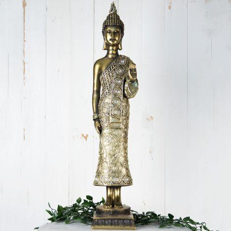 Hestia Bronze Thai Buddha Figurine 60cm